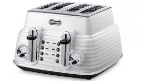 Delonghi Icona 4 Slice Toaster Black Delonghi Scultura 4 Slice Toaster White Toasters Small