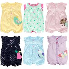 new born baby clothes cotton baby clothes 2018 summer infant