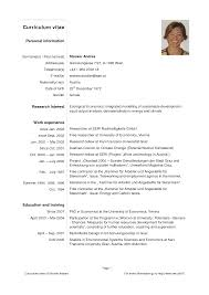 Curriculum Vitae Sample And Format by Sample Of Simple Personal Information Curriculum Vitae Template