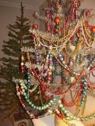 antique glass bead garland christmastime beaded