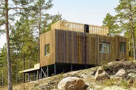 weird house sandell sandberg island homes in sweden 4 wooden houses