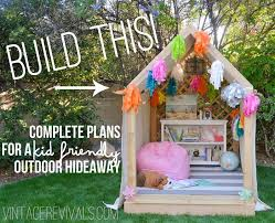 Backyard Forts For Kids Summer Reading Nook Outdoor Hideaway Plans Part 2 Roof And