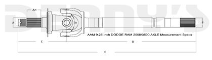 Dodge Ram 3500 Parts - aam 40022771 left inner axle fits 2003 to 2009 dodge ram 2500