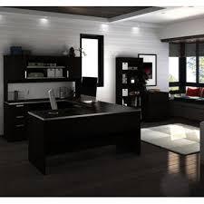 Bestar U Shaped Desk Bestar Ridgeley U Shaped Desk W Lateral File Bookcase In