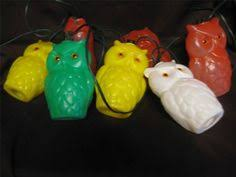 Owl Patio Lights Vintage Owl Patio Lights New In Box Set Of 7 Mold Owls