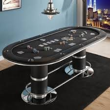 10 player round poker table poker casino tables you ll love wayfair ca