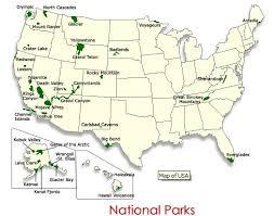 map of us states national parks us national parks wall map diy travel map kit washington national