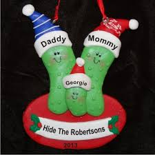 3 pickles family ornament