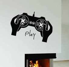 compare prices on wall decals gamer online shopping buy low price boys game room vinyl wall decal joystick video game gamer play room boy teen mural wall