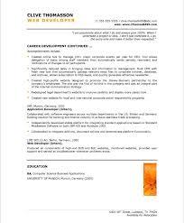 developer resume template web developer resume sles career development continued