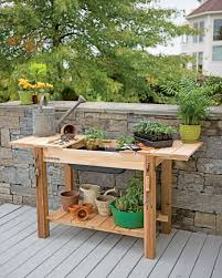 Inexpensive Potting Bench by Garden Work Bench With Sink Home Outdoor Decoration