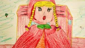 red riding hood drawing face animated drawing story