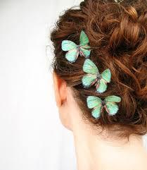 butterfly for hair three handmade emerald green silk butterfly hair emerald