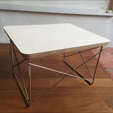 eames wire side table eames wire base table side coffee table authentic herman miller mid