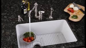 Porcelain Kitchen Sinks Undermount YouTube - Porcelain undermount kitchen sink