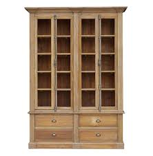 marcus french country reclaimed wood double bookcase kathy kuo home