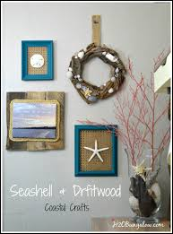 diy seashell and driftwood wreath