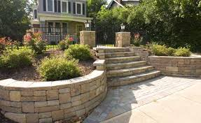endearing retaining wall stairs design garden retaining wall