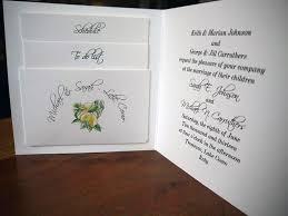 wedding invitation inserts wedding invitation with insert pocket