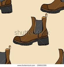 vector seamless pattern shoes sketches by stock vector 299910395
