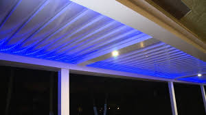 Motorized Pergola Cover by The Power Of A Pergola Powered Louver Roof Systems Youtube