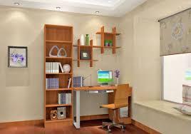 blue polished metal corner desk using light gray hardboard shelf