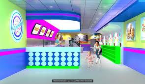 Retro Style Ice Cream Candy Store Design Projects Projects A To Z - Interior design retro style