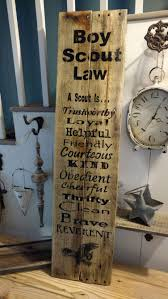 Home Decor Auction Reclaimed Wood Boy Scout Law Pallet Wood Boy Scouts Boy Scout