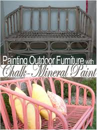 painting outdoor furniture with chalk mineral paint my island