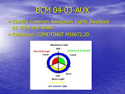 Boat Navigation Lights Boat Crew Navigation This Presentation Is Provided For Shore Side