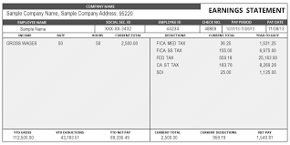 Excel Paystub Template Sle Of Pay Stub Information Instant Pay Stub