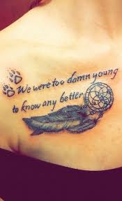 tattoos for feather tattoos and quotes getattoos us