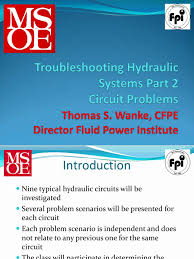 thomas wanke troubleshooting hydraulic systems part 2 circuit