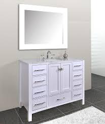 White Bathroom Vanity 48 Inch by Calesvo 48 Inch Modern White Single Sink Bathroom Vanity Single