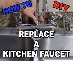 Change Kitchen Faucet How To Replace A Kitchen Sink Faucet 20 Steps With Pictures