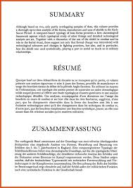 summary section of resume moa format