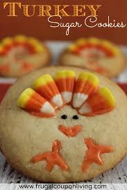 turkey sugar cookies recipe thanksgiving food craft