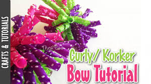 curly ribbon how to make a korker bow curly ribbon the290ss