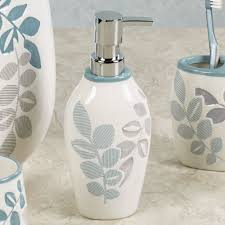 delano leaf design ceramic bath accessories