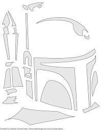click for free boba fett alien pumpkin carving pattern stencil