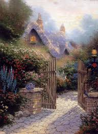 822 best kinkade images on landscapes kinkade