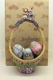 jim shore easter baskets jim shore biddie basket easter basket w eggs 4009215 nwt