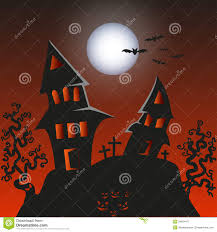 black cat halloween background haunted monster house halloween background vect royalty free