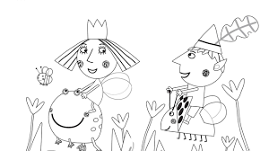 ben holly coloring pages coloring
