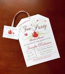 kitchen tea invitation ideas printable tea invitations tea tag tea and bridal