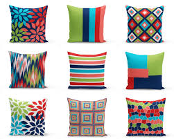 Red Coral Home Decor by Colorful Outdoor Pillows Red Navy Blue Green Coral White