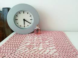 gifts for home decoration crochet doily dusty pink square lace table centerpiece shabby chic