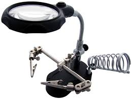magnifier with led light am tech soldering stand magnifying glass led light inspection work