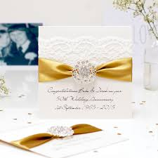 50th wedding anniversary greetings vintage golden anniversary cards luxurious handmade and