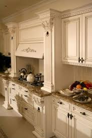 Kitchen Cabinets Antique White Hand Painted And Distressed Kitchen Cabinets Similar To What We